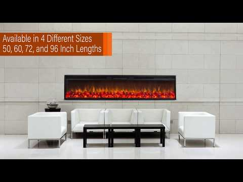 Touchstone Emblazon Linear Electric Fireplace Collection