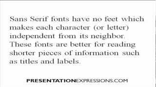 Presentation Skills: How to choose the right font for your presentation