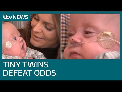 Twins boys born weighing less than a drink can are smallest ever to survive | ITV News