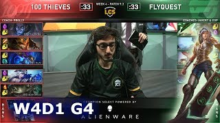 100 vs FLY | Week 4 Day 1 S9 LCS Spring 2019 | 100 Thieves vs FlyQuest W4D1