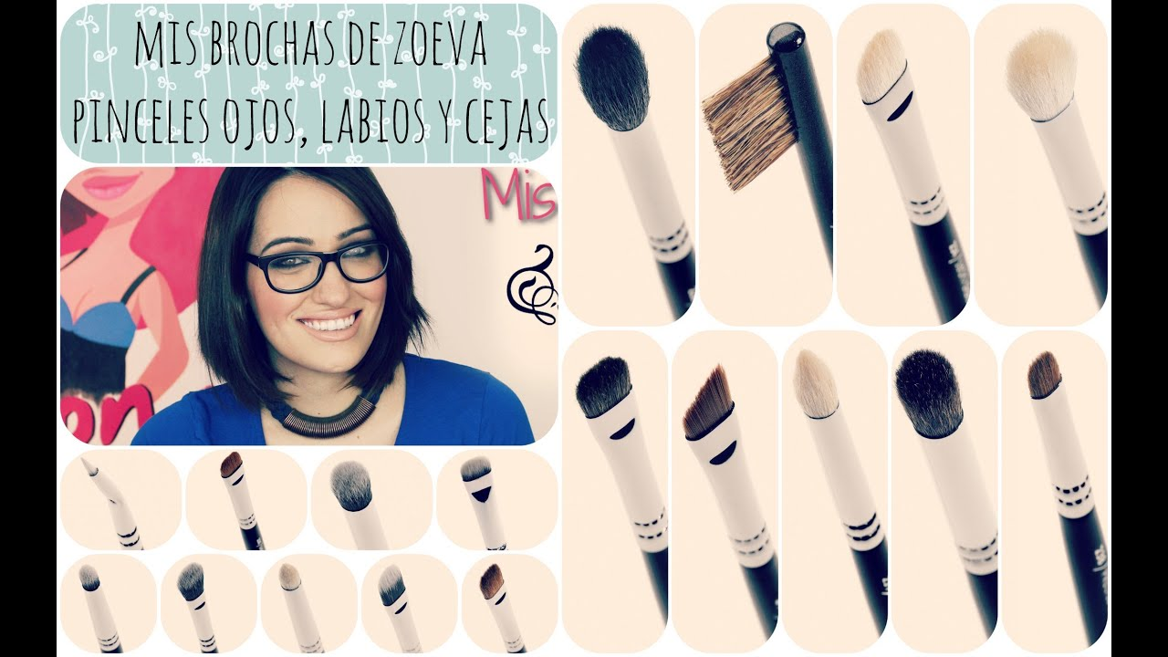 Mis brochas de Zoeva: Pinceles para ojos, labios y cejas.