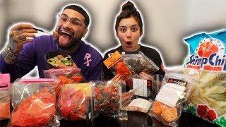 WOULD YOU RATHER ft. MY PREGNANT GIRLFRIEND +  HAWAIIAN FOOD MUKBANG!!