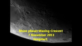 Moon phases Waxing Crescent 7 November 2013