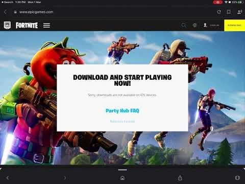 How to download fortnite on iOS iPad Apple Watch or Mac and android devices for free easy way t
