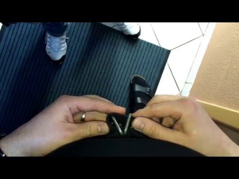 Doppel D Ring Gürtel schließen und öffnen Anleitung