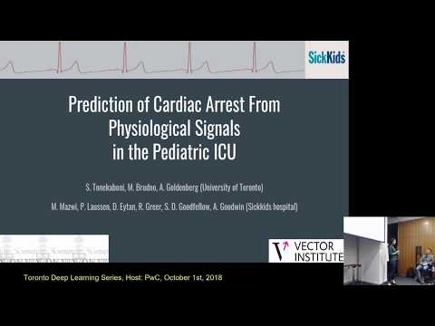 Prediction of Cardiac arrest from physiological signals in the pediatric ICU