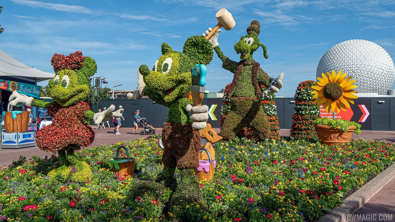 2020 Epcot International Flower and Garden Festival topiaries