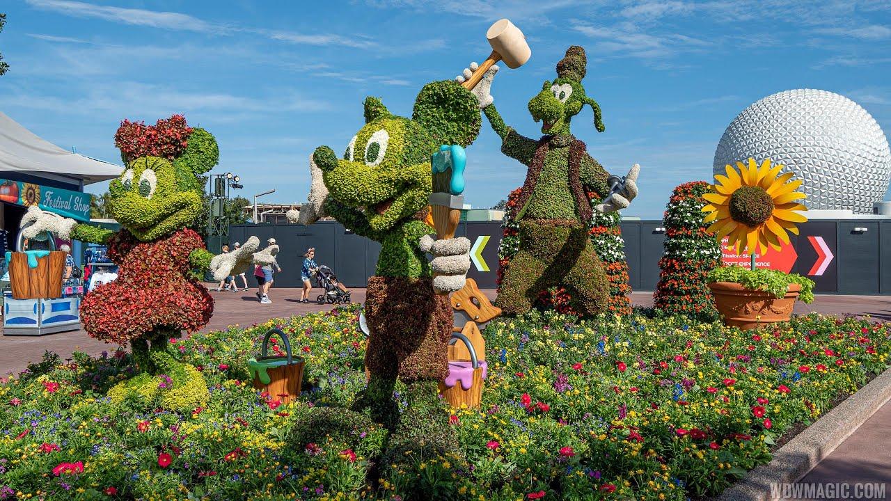 2020 Epcot International Flower and Garden Festival topiaries