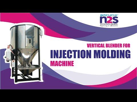 Vertical Plastic Color Mixer,100kg For Injection Molding Machine