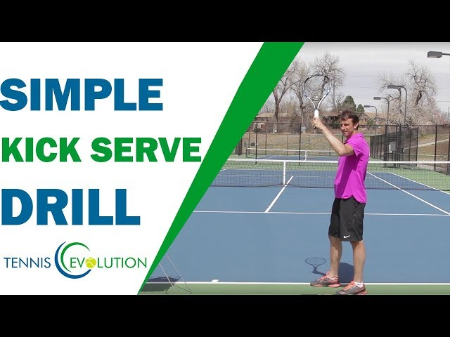 Simple Kick Serve Drill (FOLLOW ALONG!) | TENNIS SERVE
