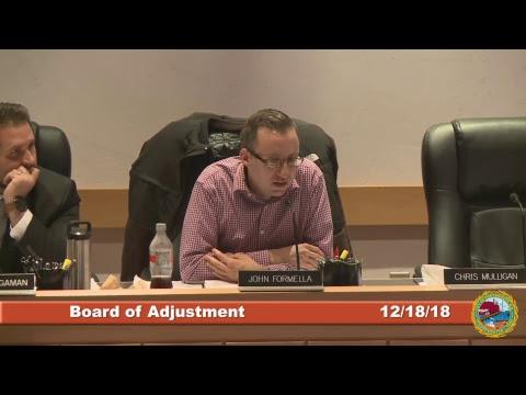 Board of Adjustment 12.18.2018