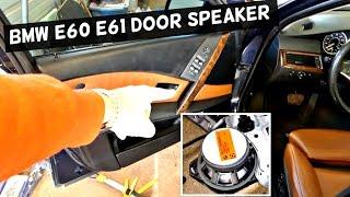 BMW E60 E61 FRONT DOOR SPEAKER REPLACEMENT REMOVAL 525i 528i 530i 535i 540i 550i 520d 525d 530d 535d