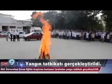 Hitit Üniversitesi Çorum Eğitim Araştırma hastanesi tarafından yangın tatbikatı gerçekleştirildi