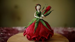 Flower Fairy Doll From Crepe Pape. DIY Master Class.