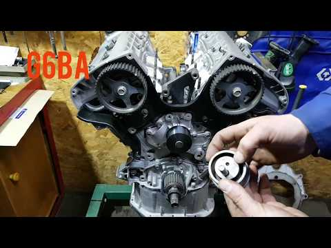 Hyundai G6BA установка ремня ГРМ