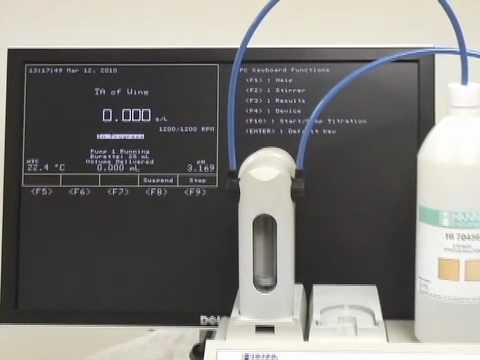 HI901 - Total Acidity (TA) Titration