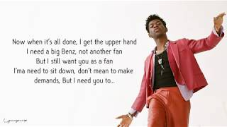 Lil Nas X   Panini (Lyrics  Lyric Video)