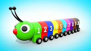 LEARNING COLOR ADN NUMBERS Colorful Caterpillar | Learning to count from 1 to 10