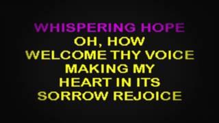 SC2020 07   Gospel   Whispering Hope [karaoke]