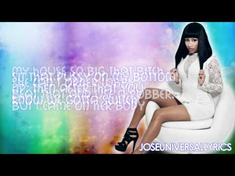 Nicki Minaj Ft. Lil Wayne, Bobby V. - Sex In The Lounge (Lyrics On Screen) HD
