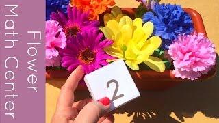 Flower Preschool And Kindergarten Math Center