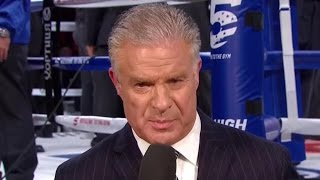 "HBO'S JIM LAMPLEY CALLS MAYWEATHER A ""SON OF A BITCH"" ON AIR AND CALLS FIGHT THIS WEEKEND 