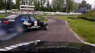 preview picture of video 'Drift Niepokonanych onboard Koszalin 2012.09.08 Inzu Drift E30 V8'