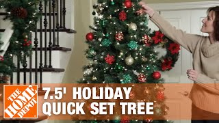 Home Accents 7.5 Holiday Quick Set Tree | The Home Depot