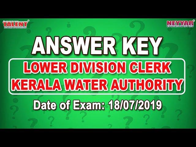 Kerala PSC Exam(18-07-2019)
