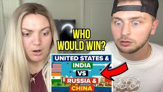USA & India VS China & Russia | Military Comparison | REACTION!