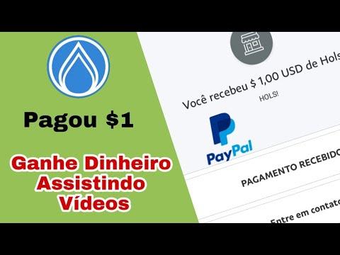 Pagou $1 no Paypal, Melhor Aplicativo para Ganhar Dinheiro Assistindo Vídeos  Bem vindo ao Canal!