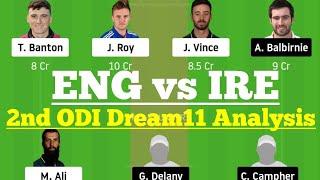 ENG Vs IRE 2nd ODI Match Dream11, ENG Vs IRE Dream 11 Today Match, ENG Vs IRE Dream11 Team Analysis