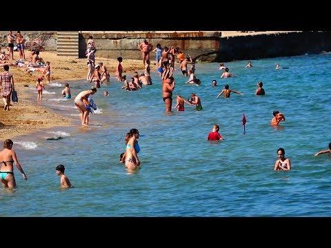 Феодосия Крым Пляж Рынок город видео