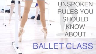 BALLET CLASS ETIQUETTE - Everything you Need to Know as an Adult Ballet Dancer | natalie danza
