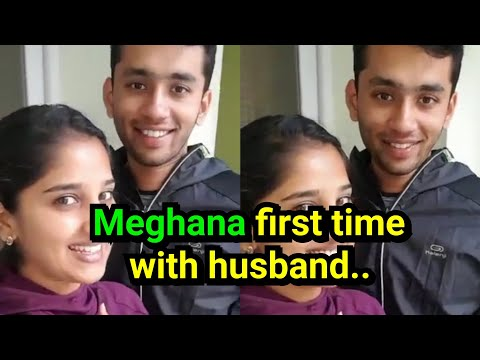 Meghana Lokesh first time with husband after marriage