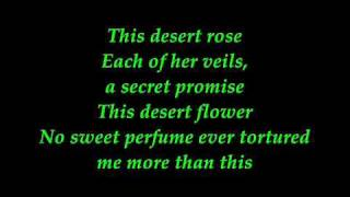 sting - desert rose with lyrics