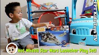 HotWheels Star Wars Star Destroyer Slam & Race Launcher Play Set! | FPT Kids Toys TV