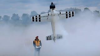 YAK-54 GIANT RC MODEL PLANE 3D AEROBATICS DEMO FLIGHT / RC FLIGHTSHOW BÖLSDORF GERMANY MAY 2015