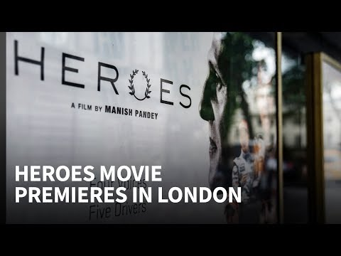 Heroes movie premiere: Motorsport stars turn out for London event