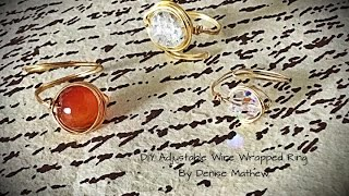 How To Make A DIY Adjustable Wire-Wrapped Ring By Denise Mathew