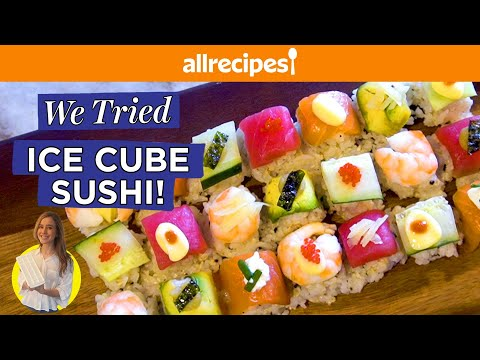 Making Sushi In an Ice Cube Tray?! | We Tried It | Allrecipes.com