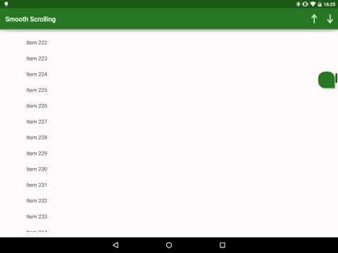 RecyclerView FastScroll – Part 1 – Styling Android