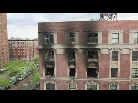 Six people, including four children, have been killed in an overnight fire that ravaged an apartment in a city-owned Harlem building. (May 8)