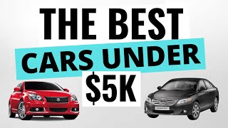 THE BEST Cars Under $5,000 For Reliability - Top 5 Reliable Cars Under $5k