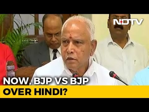 """""""Won't Compromise,"""" Says BS Yediyurappa After Amit Shah's Hindi Pitch"""