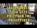 Affordable Sofa Sets, Prices In The Philippines.