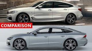 2018 Audi A7 Sportback vs 2018 BMW 6 Series Gran Turismo Comparison - Luxury Sport Sedans