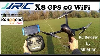 JJRC X8 Review - GPS 5G WiFi FPV 1080p Brushless Quadcopter drone