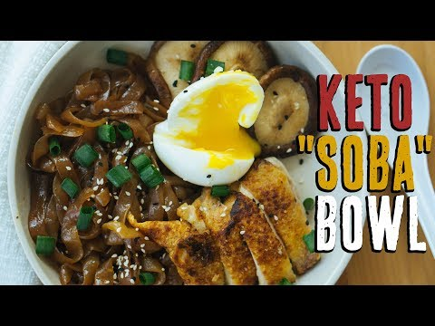 Asian Keto Noodles Recipe | Crispy Chicken Soba Bowl