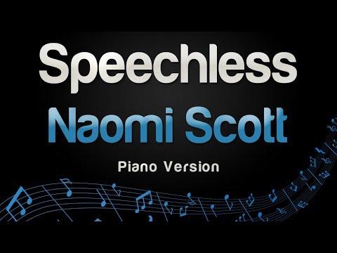 Naomi Scott - Speechless (Piano Version)